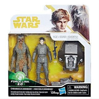 Star Wars Force Link 2.0 Chewbacca-han Solo Original Hasbro
