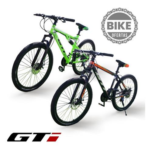 Bicicleta Gti Aro 20 26 Doble Suspensión Importadas + Casco