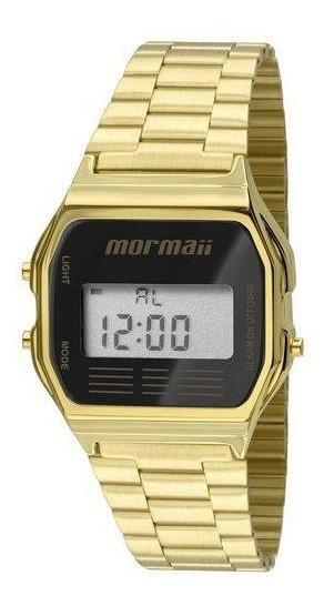 Relógio Mormaii Unisex Vintage Mojh02ab 4p Digital Dourado