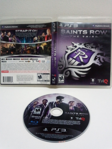 Jogo Saints Row The Third Para Ps3 Mídia Física