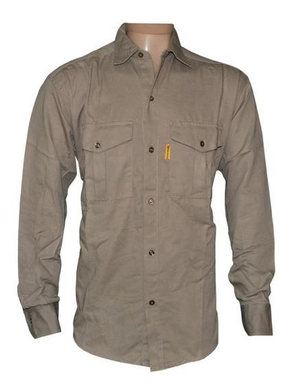 Camisa De Trabajo Gaucho Beige