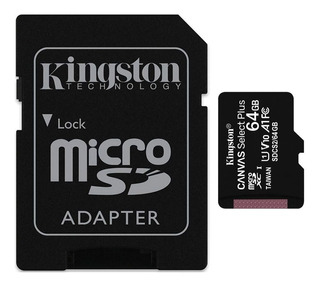 Memoria Micro Sd 64gb Kingston Clase 10 Plus 100mbs Full