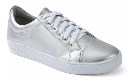 Sapato Tenis Feminino Couro Legitimo Confortável 351