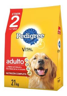 Alimento Pedigree Etapa 2 perro adulto todos los tamaños carne/pollo/cereales 21kg