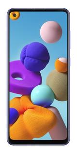 Smartphone Samsung Galaxy A21s Tela 6.5 64gb 4gb Ram Azul