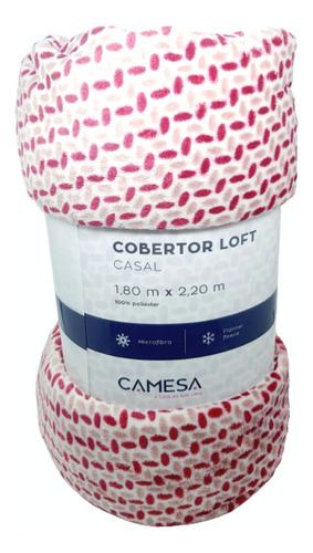Manta Casal Microfibra 1,80 X 2,20cm Outono Inverno  Camesa