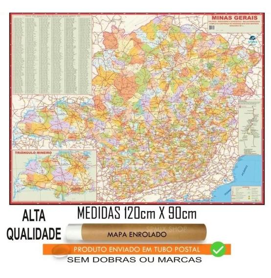 Mapa Estado De Minas Gerais Enrolado 120 Cm Frete R$ 20,00