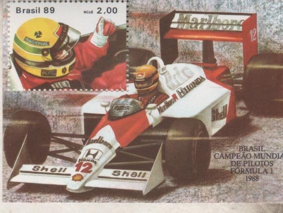 Block Mint De Brasil - Automovilismo Formula 1 - Año 1989
