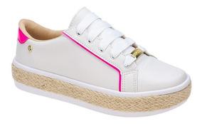 Tenis Feminino Casual Sola Corda Tendência | Branco, Jeans