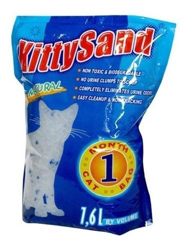 Kitty Sand Silica Gel Para Gatos 7,6 Litros