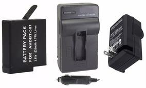 Bateria Ahdbt501 + Carregador P/ Câmera Gopro Hero 5 Session