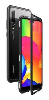 Funda Magnética De Metal Con Vidrio Huawei Nova 5t