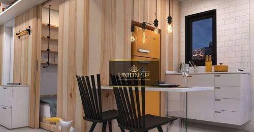Apartamento Com 1 Dormitório À Venda, 25 M² Por R$ 269.600,00 - Pompeia - São Paulo/sp - Ap46966