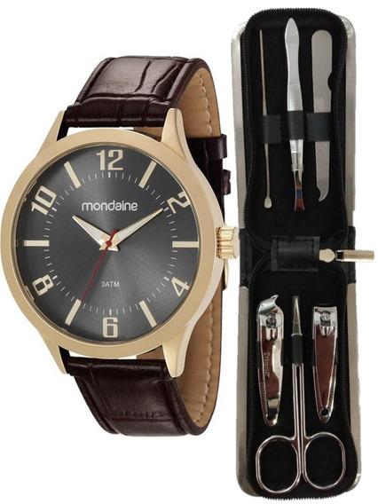 Relógio Mondaine Masculino Kit 83409gpmvdh1k1 C/ Nf
