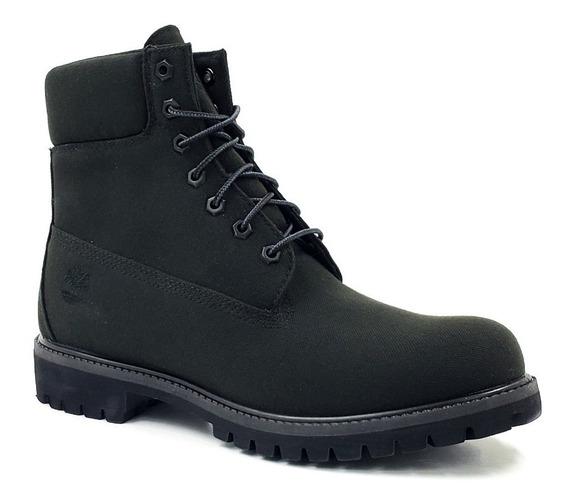 Timberland Premium 6 In Boot Black Canvas Tb0a10yn015