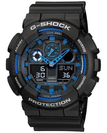Promoção Relógio Casio G-shock Anadigi Ga-100-1a2dr Original
