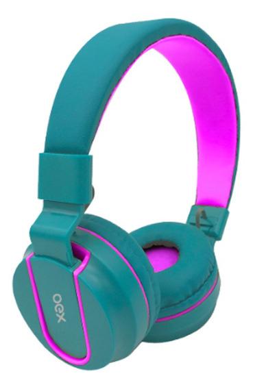 Fone De Ouvido Headset Fluor Verde Oex Hs107