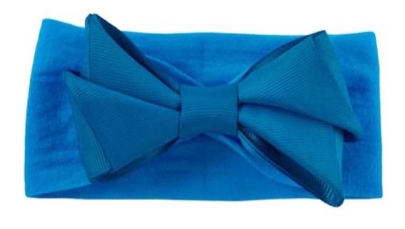 Faixa De Seda Com Laço Grande Catavento Azul Turquesa