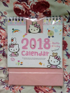 Calendario Escritorio Hello Kitty No Sanrio Coleccion Kawaii