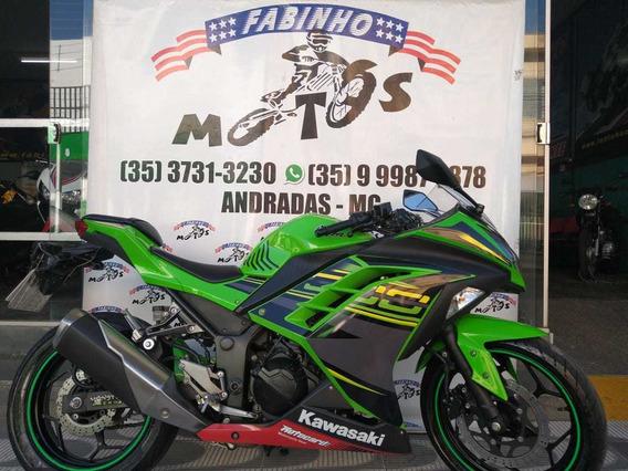 Kawasaki Ninja 300 R 2014 Verde Novíssima!!!