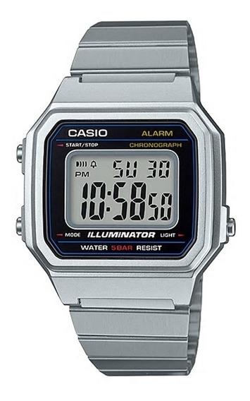 Relógio Casio Unissex Vintage B650wd 1adf Prata Digital