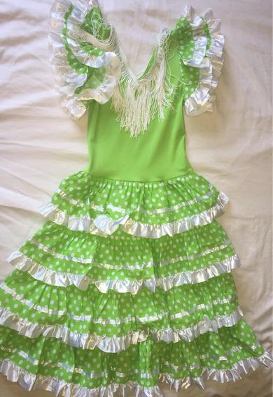 Vestido Disfraz Flamenco Niña