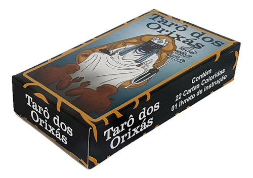 Baralho Tarô Dos Orixas 22 Cartas Tarot Esoterico C/ Manual