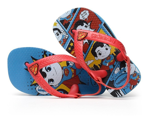 Sandálias Havaianas Chinelo Infantil Baby Heróis Super Homem