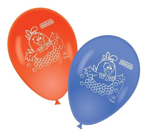 Balão Impresso 9 Polegadas Galinha Pintadinha 25 Unidades