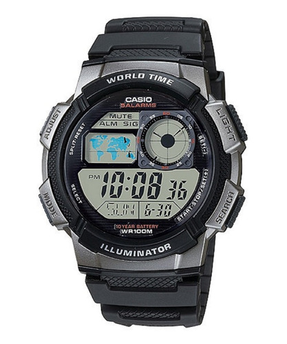 Reloj Casio Ae1000w Hombre Resiste Agua Original Pila 10años