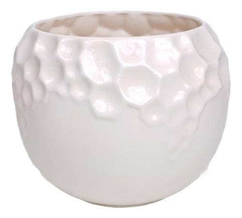 Vaso Trabalhado Branco G | 24 Larg X 19 Alt