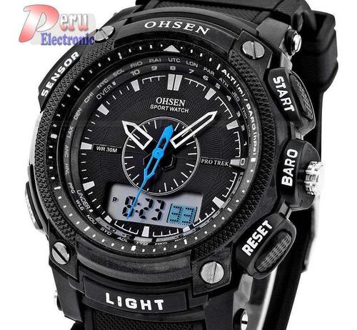Reloj Ohsen Dial Analogo Y Digital Deportivo, Cronometro