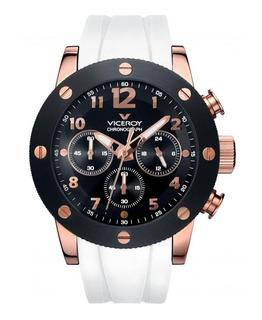 Reloj Hombre Viceroy 47655-95 Cronografo Acero Wr 100 M