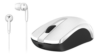 Combo Mouse+audfifono Mh-8100 Blanco Genius