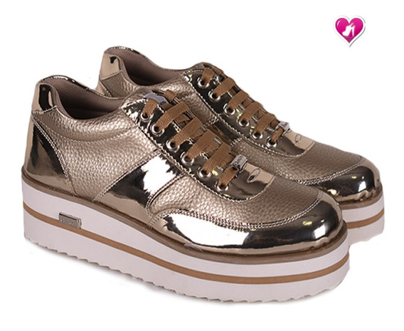 Zapatillas Sneaker Plataforma Model Vitto Lemon Shoes Bayres