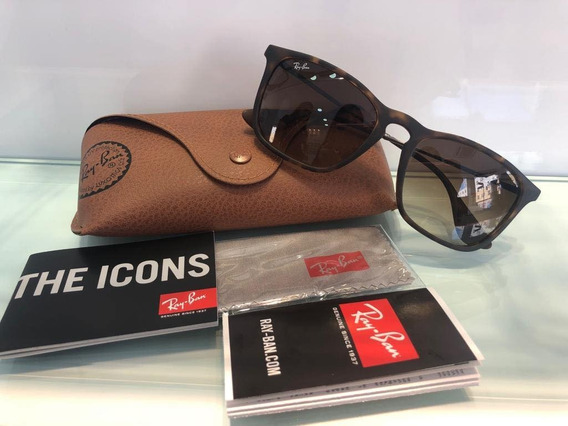 Rayban Chris Marrom Mesclado Rb 4187 - Original Com Nf