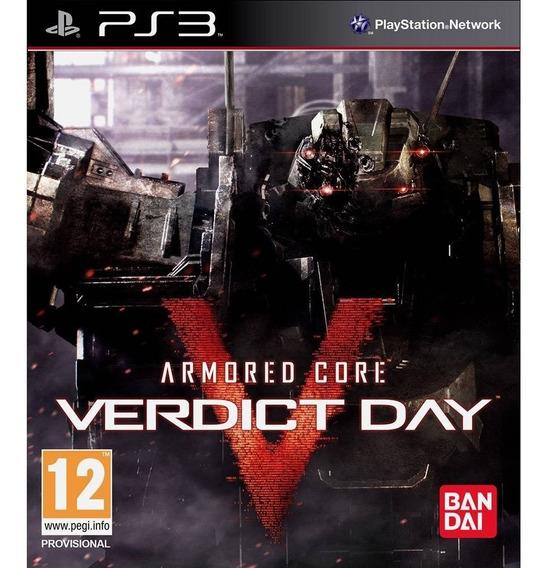 Armored Core Verdict Day Ps3 Mídia Física Novo Lacrado