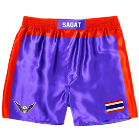 Bermuda Shorts Anime Sagat Street Fighter Tailândia Cosplay