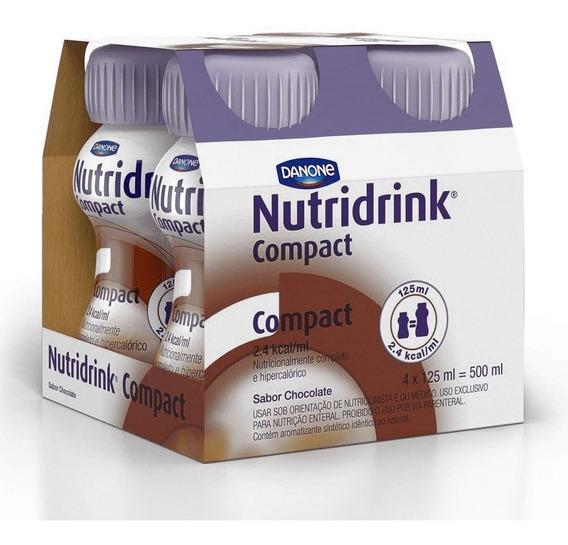 Nutridrink Compact Sabor Chocolate 4 Garrafinhas De 125ml