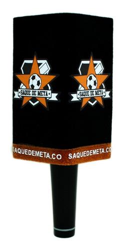 Capuchón Rectangular Gamuzado Para Micrófono Colores + Logo.