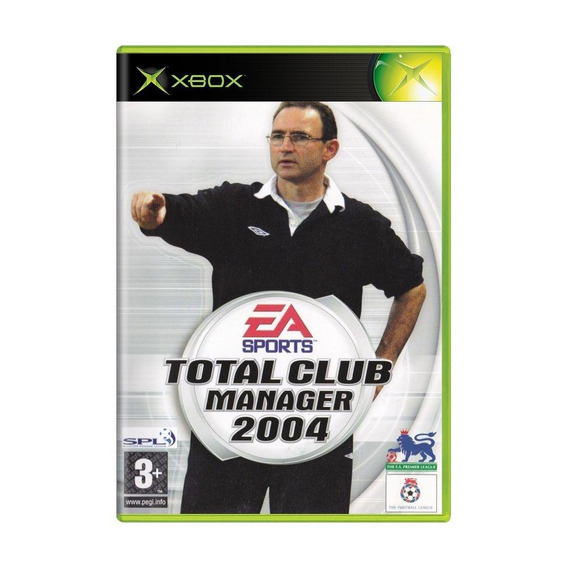 Total Club Manager 2004 Xbox Europeu Mídia Física