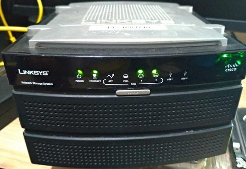 Nas 200 Linksys Cisco + 2 Hd's De 1 Tb Nas200