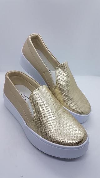 Zapatos Colombianos Para Damas Dorados Tipo Paseo