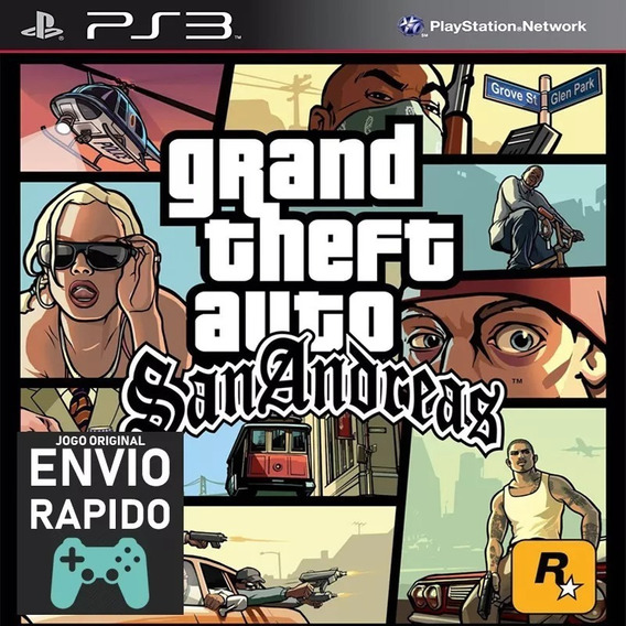 Grand Theft Auto San Andreas Gta Ps3 Receba Hoje