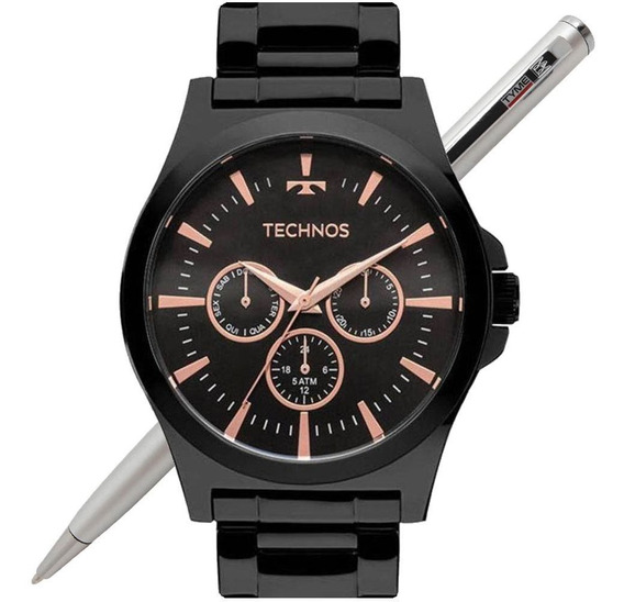 Relógio Technos Masculino Steel Preto 6p29ajl/4p - Nfe