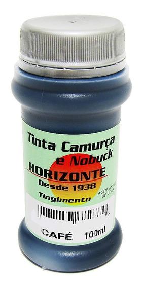 Tinta Para Camurça Nobuck Couro Sapato Bolsa 100ml + Pincel