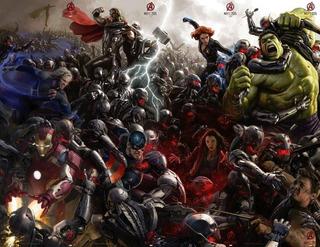 Afiche Poster Pelicula Avengers 2 Vengadores 2 Comic Con 1mt