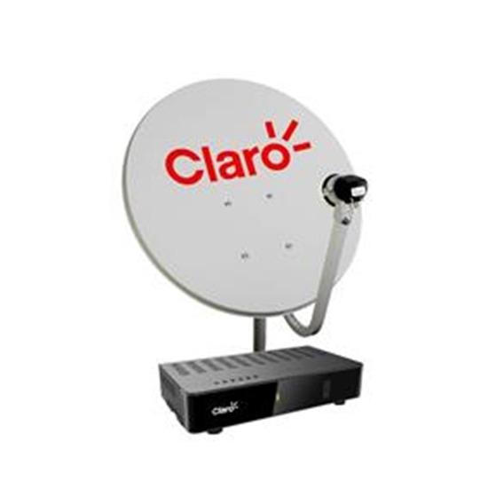 Kit Antena Claro Tv Pré-pago 1 Receptor Digital+antena 60cm