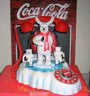 Telefono Coca Cola Animado Polar Bear Sonido