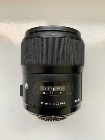 Lente 35mm 1.4 Sigma Art / Nikon